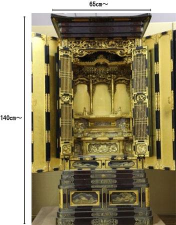 作り替え(リメイク)前仏壇サイズ